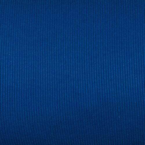 Tissu tubulaire bord-côte maille bleu roi