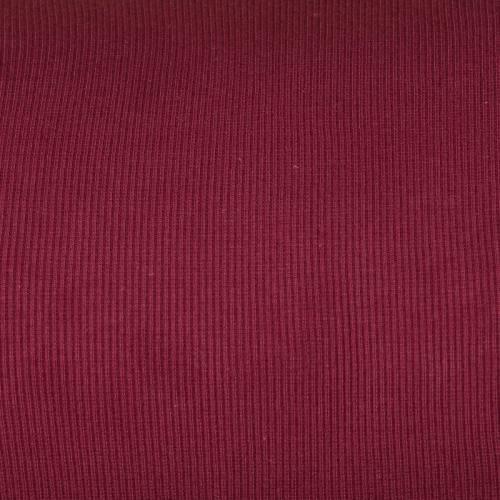 Tissu tubulaire bord-côte maille bordeaux