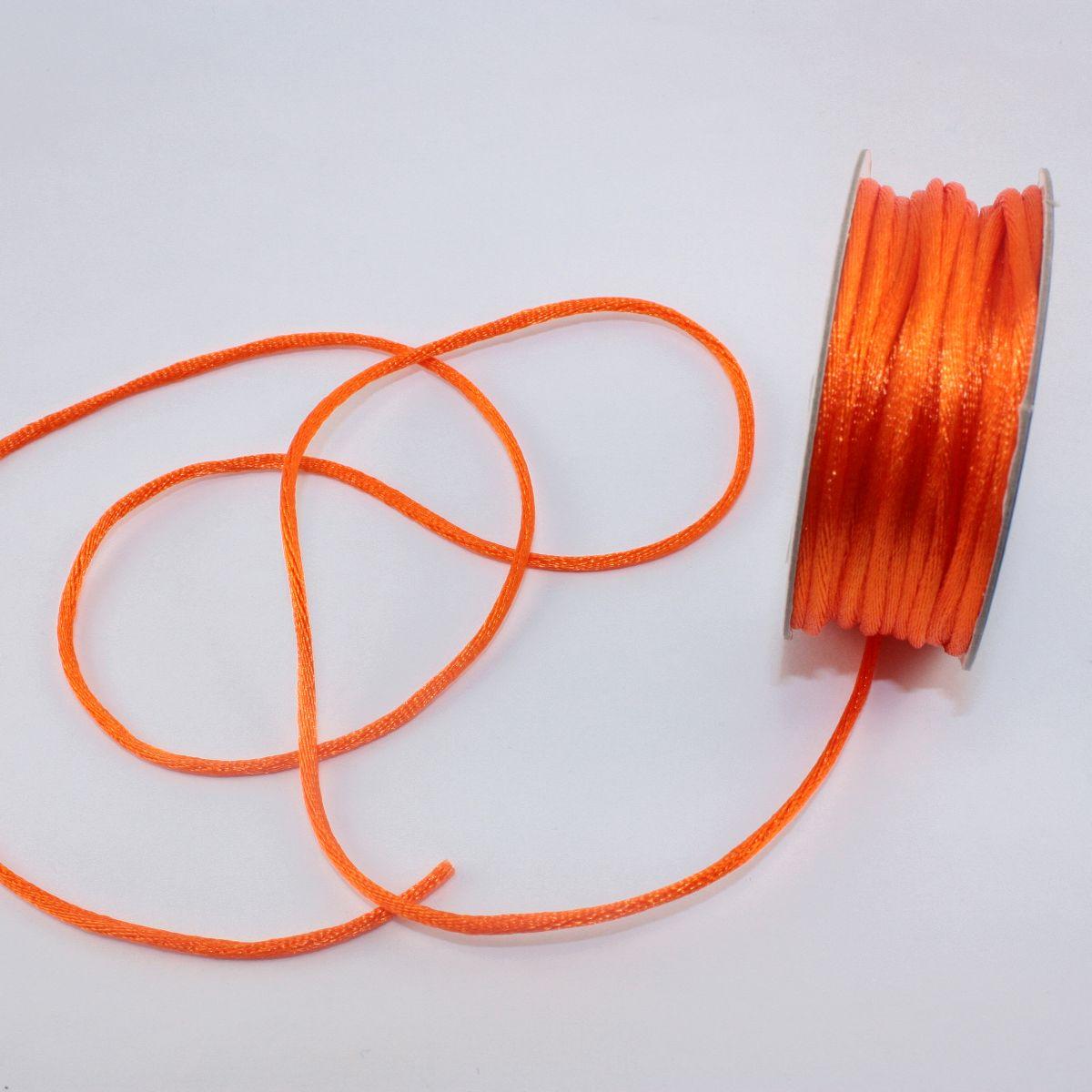 Cordelette en bobine orange sanguine 2 mm
