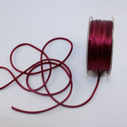 Cordelette en bobine bordeaux 2 mm