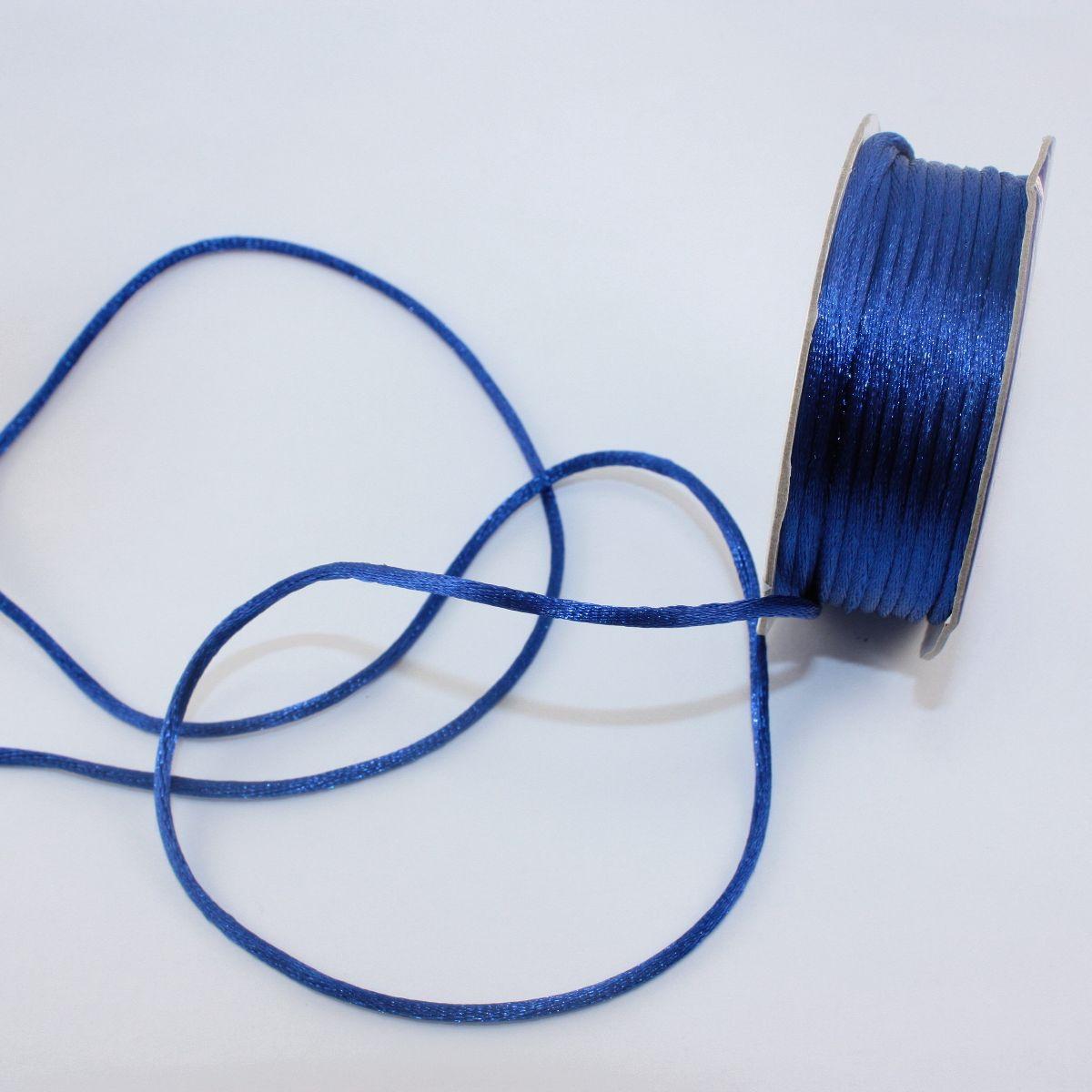 Cordelette en bobine bleu roi 2 mm
