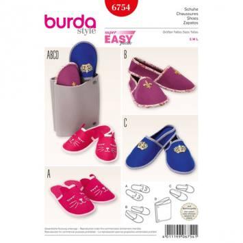 Patron Burda 6754 : Chaussons