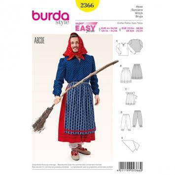 Patron Burda 2366 Carnaval : Sorcière