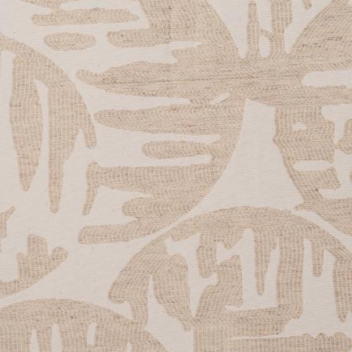 Jacquard écru et beige motif rond jungle