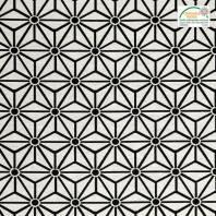 Jacquard blanc motif asanoha noir