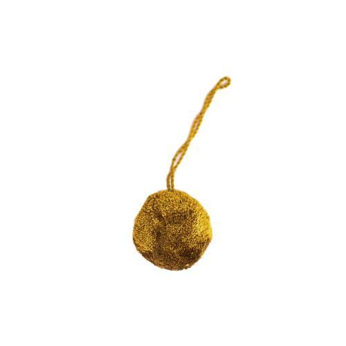 Pompon marron clair rond 4cm
