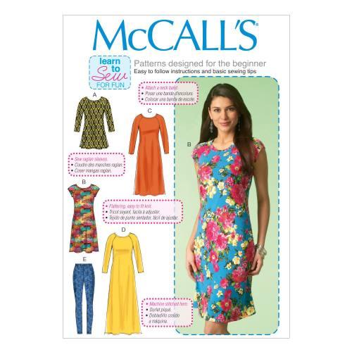 Patron Mc Call's M7122: Robe, tunique et collant Taille: 34-42