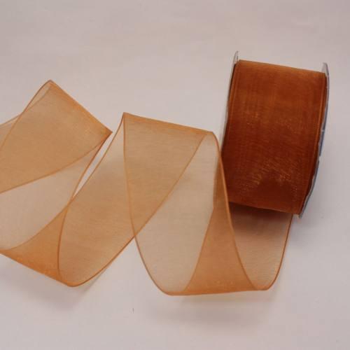 Ruban organdi en bobine caramel 32 mm