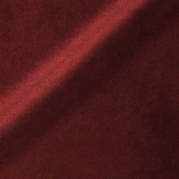 Velours ras d'ameublement uni rouge carmin