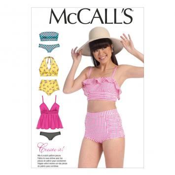Patron Mc Call's M7168: Maillot de bain Taille: 32-40