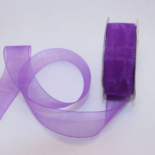 Ruban organdi en bobine violet 20 mm