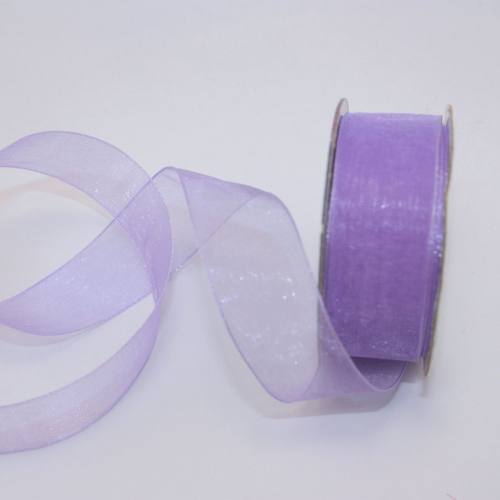 Ruban organdi en bobine lavande 20 mm