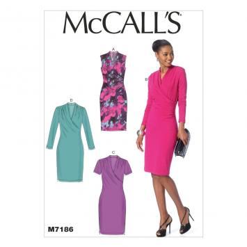 Patron Mc Call's M7186: Robe Taille: 34-42