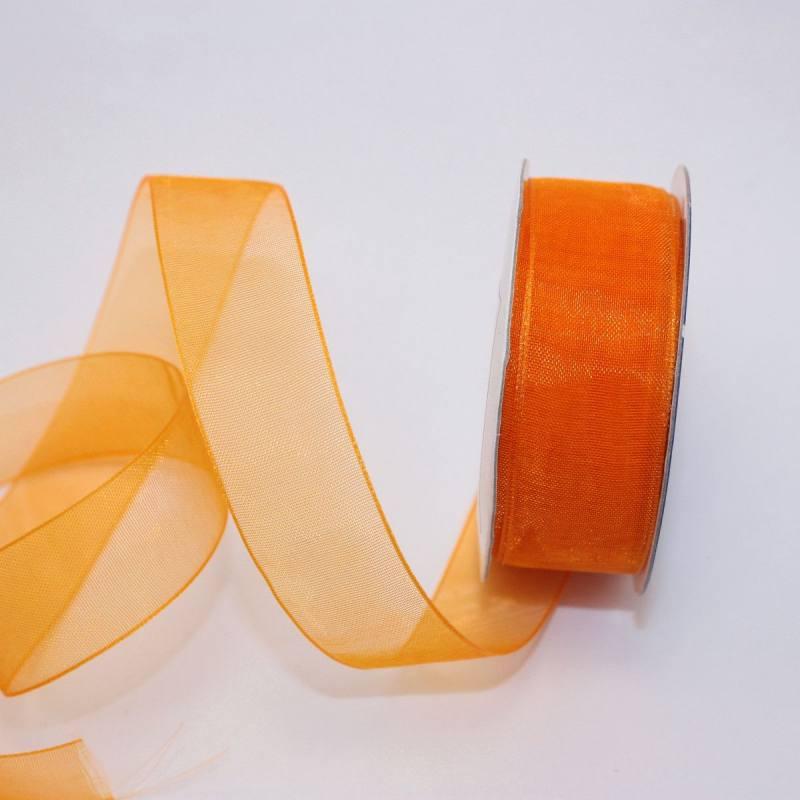 Ruban organdi en bobine abricot 20 mm