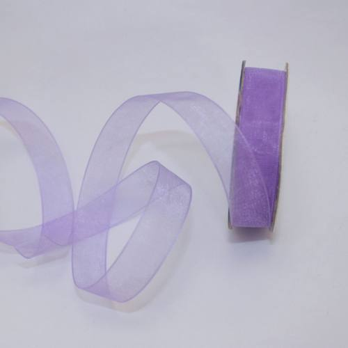 Ruban organdi en bobine lavande 12 mm