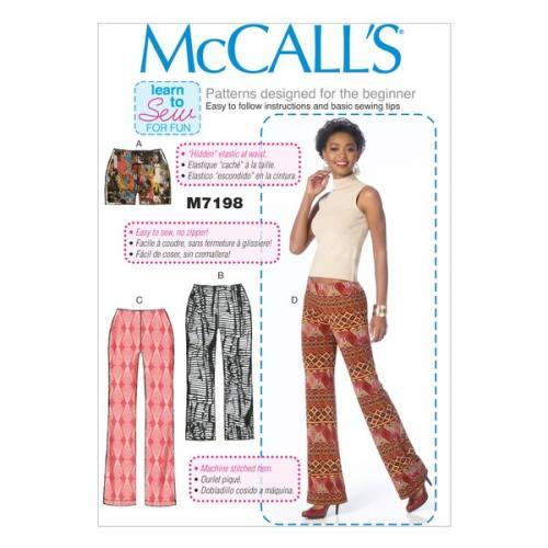 Patron Mc Call's M7198: Short et pantalon Taille: 34-42