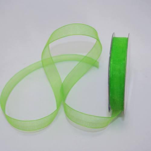 Ruban organdi en bobine vert 9 mm