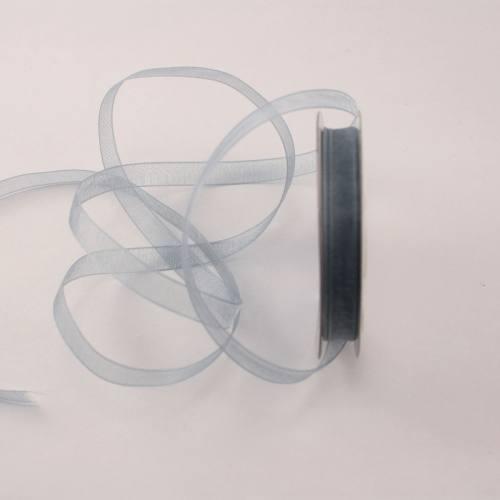 Ruban organdi en bobine gris 6 mm