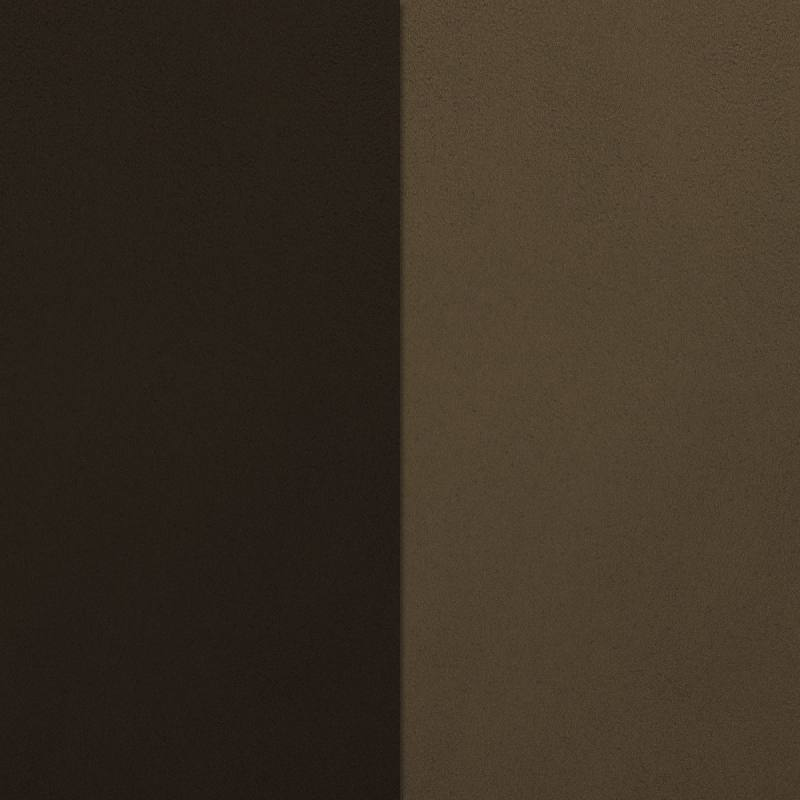 Suédine alaska réversible chocolat/beige