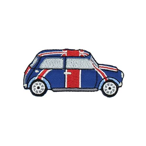 "Ecusson ""Voiture Mini London"" thermocollant"