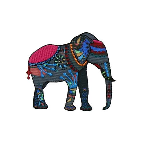 "Ecusson ""Elephant indien 2"" thermocollant"