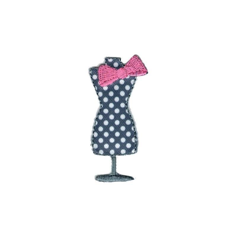 ecusson mannequin de couture thermocollant gris cussons en ligne mercerie pas cher. Black Bedroom Furniture Sets. Home Design Ideas