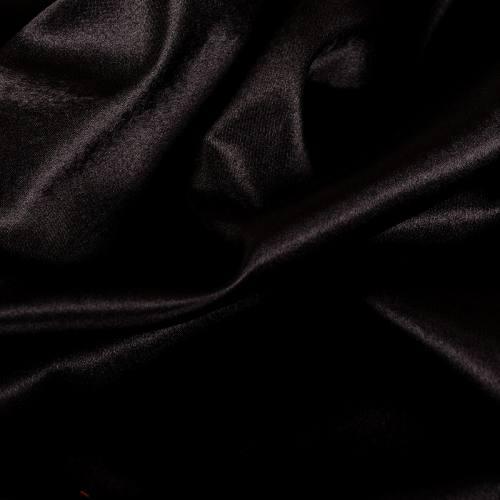 Rouleau 30m Satin uni noir 110cm