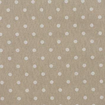 Coton enduit motifs pois blancs