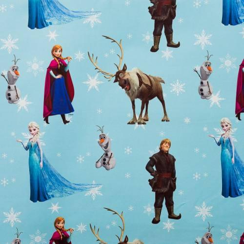 Tissu occultant bleu pastel Disney La Reine des Neiges