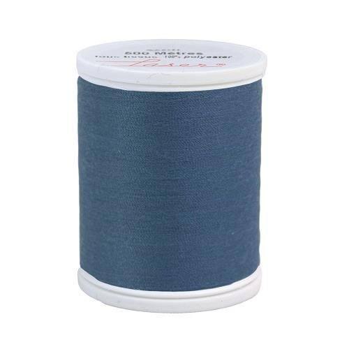 Fil à coudre polyester 500m bleu jean's 2128