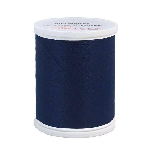 Fil à coudre polyester 500m bleu marine 2270