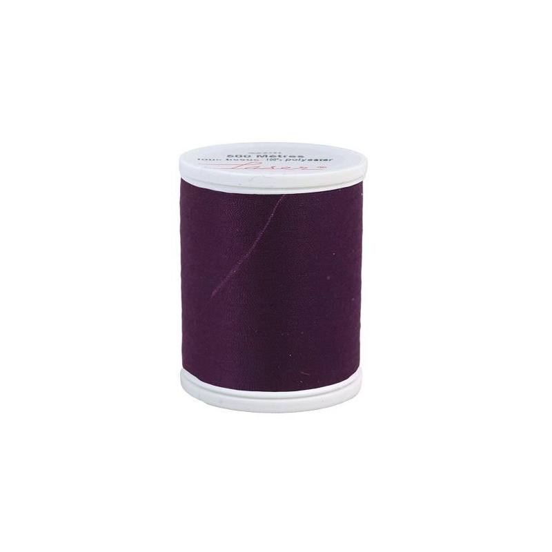 Fil à coudre polyester aubergine 2318