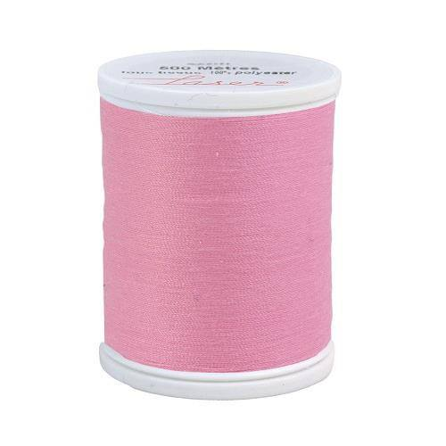 Fil à coudre polyester 500m rose 2430