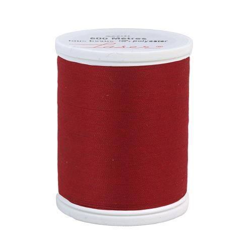Fil à coudre polyester rouge foncé 2506