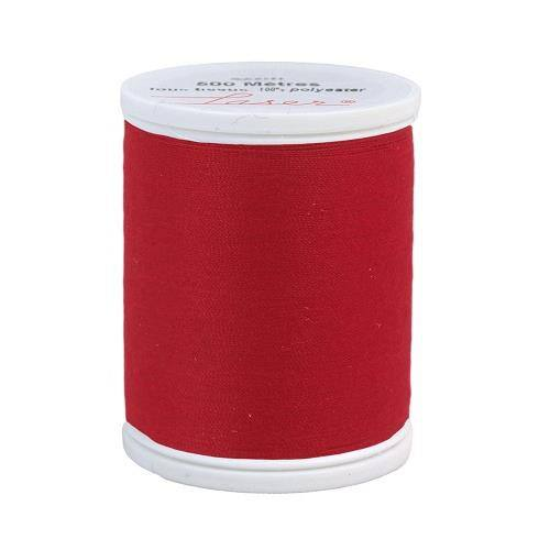 Fil à coudre polyester 500m rouge 2508