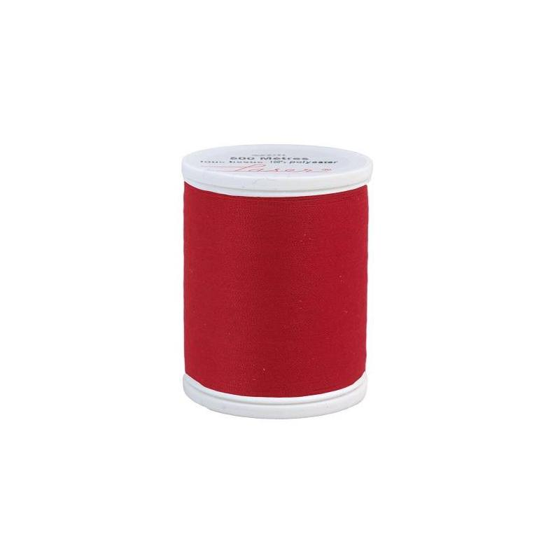Fil à coudre polyester rouge 250