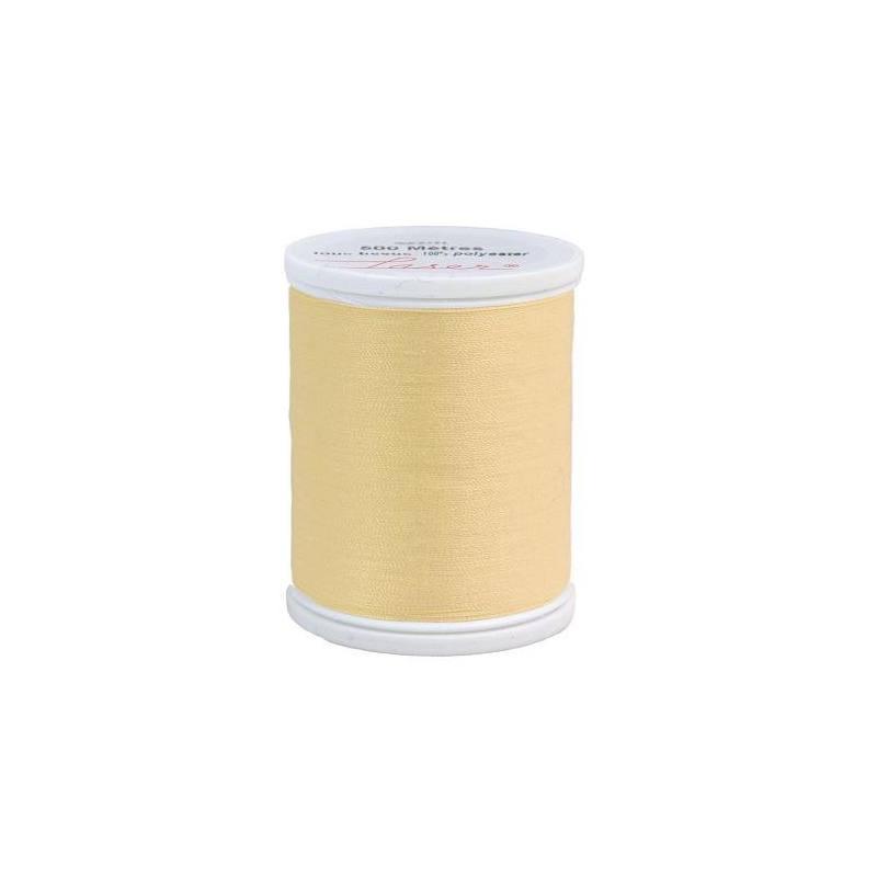 Fil à coudre polyester jaune pâle 2621