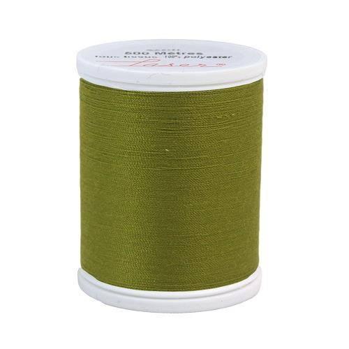 Fil à coudre polyester 500m vert olive 2632