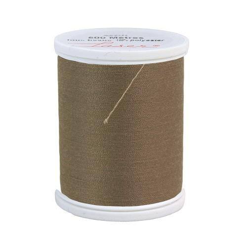 Fil à coudre polyester 500m taupe 2814
