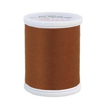 Fil à coudre polyester marron clair 2814