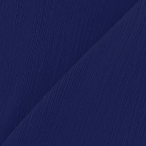 Mousseline crépon bleue roi