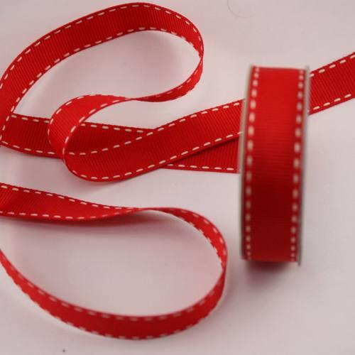 Ruban en bobine rouge 15 mm
