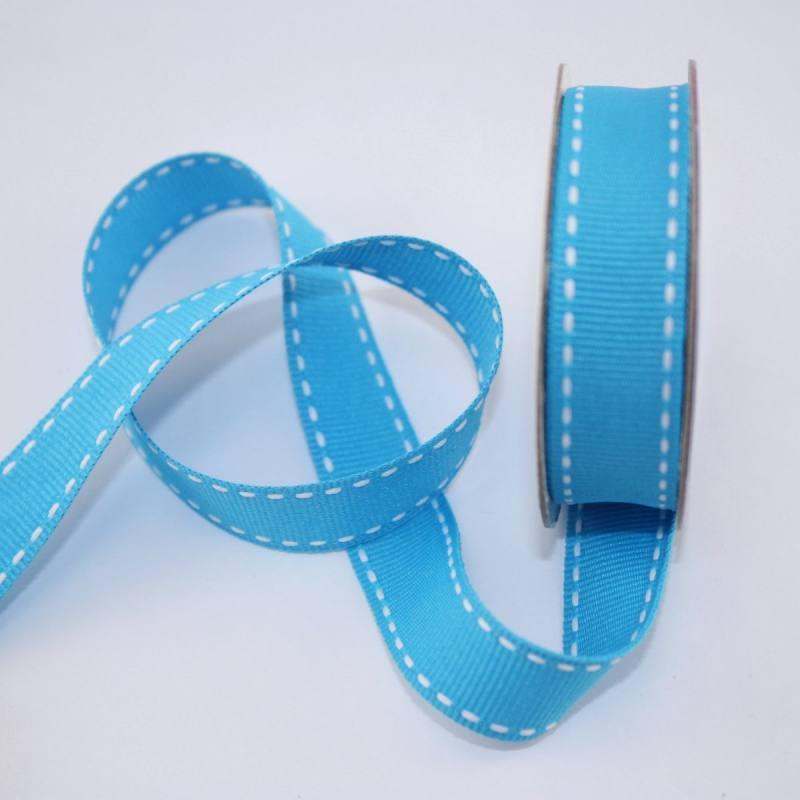 Ruban en bobine bleu azur 15 mm
