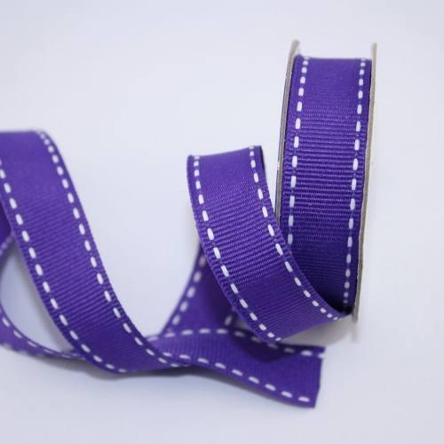Ruban en bobine violet 15 mm