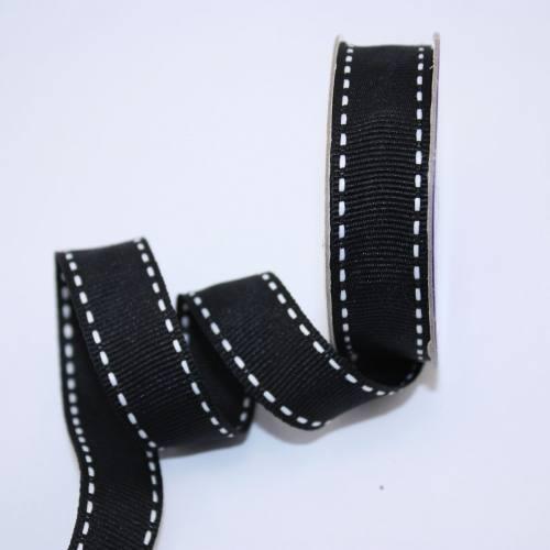 Ruban en bobine noir 15 mm