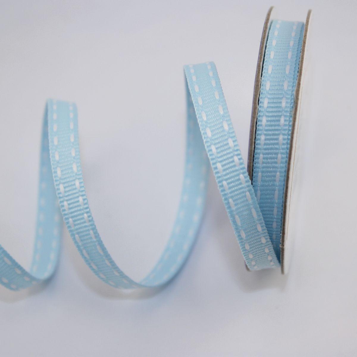 Ruban en bobine bleu ciel 6 mm