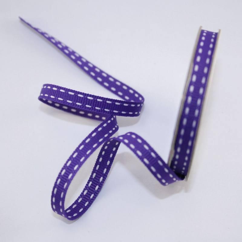 Ruban en bobine violet 6 mm