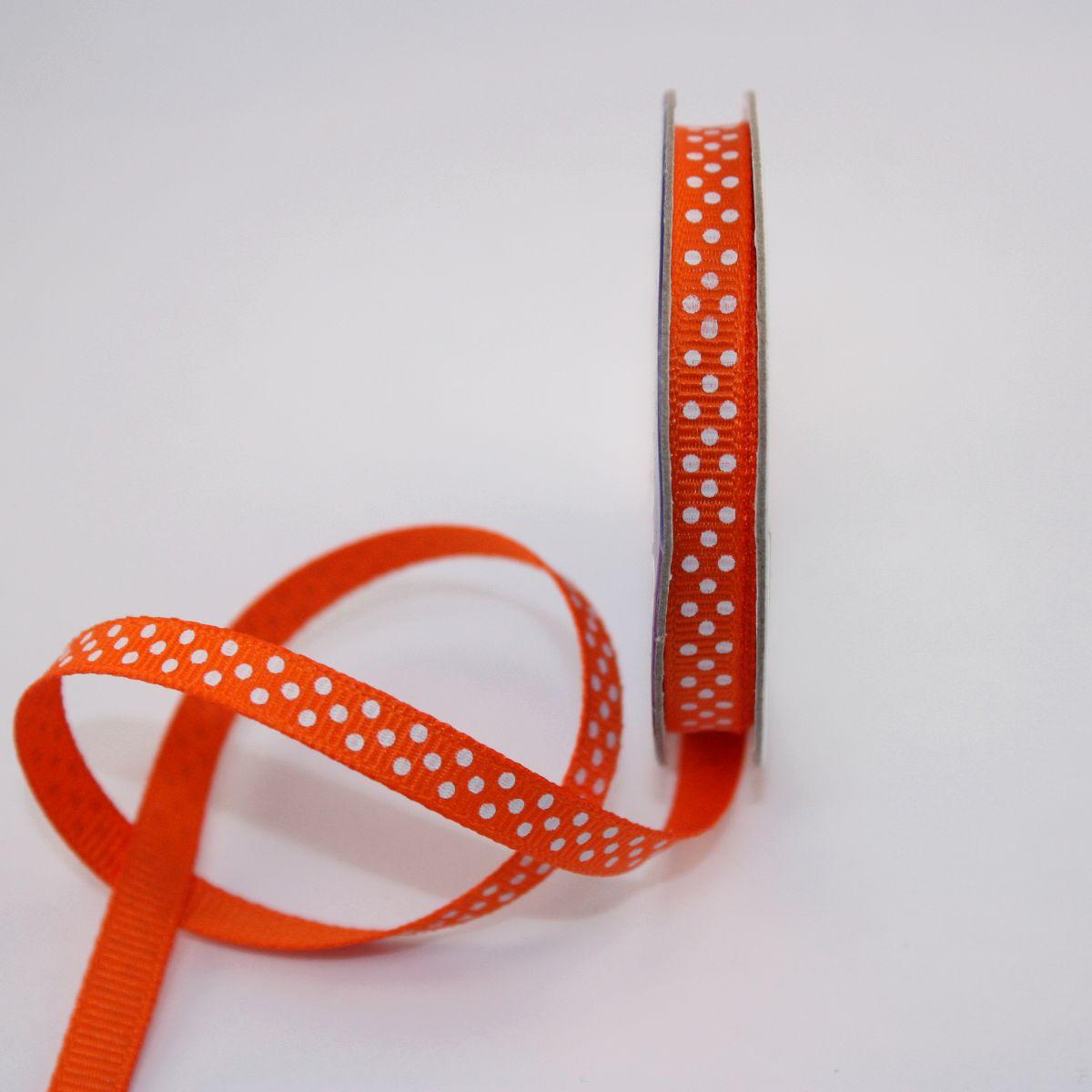 Ruban en bobine orange 6 mm