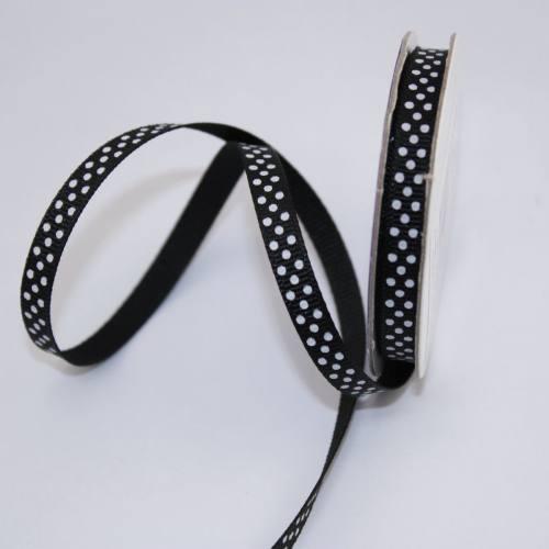 Ruban en bobine noir 6 mm