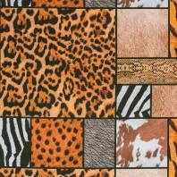 Coton impression numérique peaux animaux